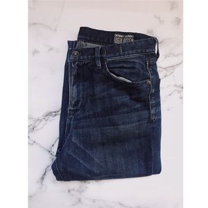 "Dark Wash 11"" High Riser Skinny Skinny Jeans"